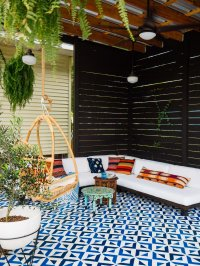 Patio DIY  Painted Floor Tiles  OLD BRAND NEW