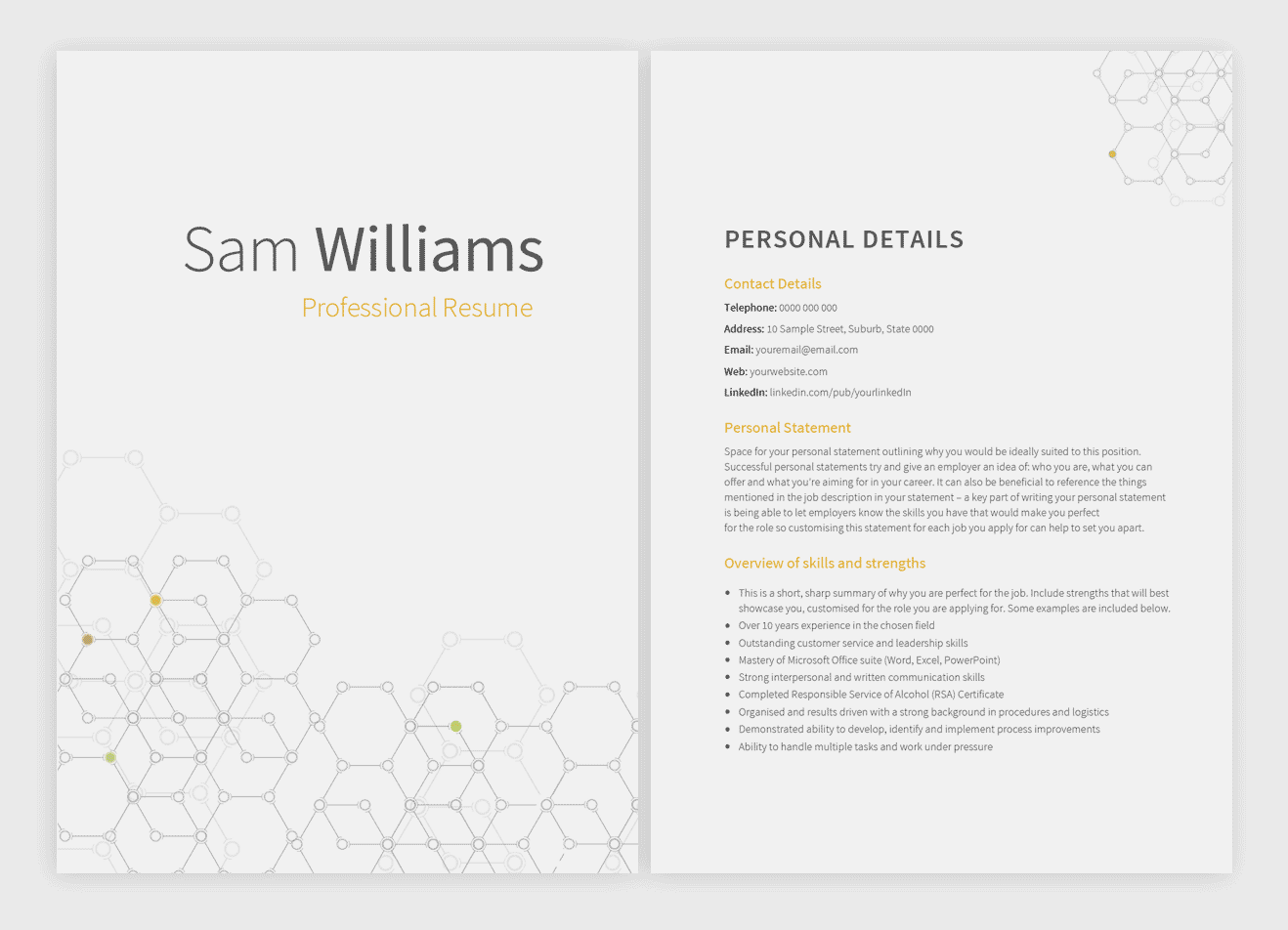 8 new Resume Templates with matching Cover Letters — Pure