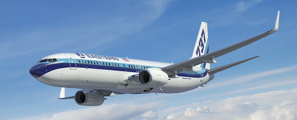 A concept drawing of the 'new' Eastern Airlines 737-800.
