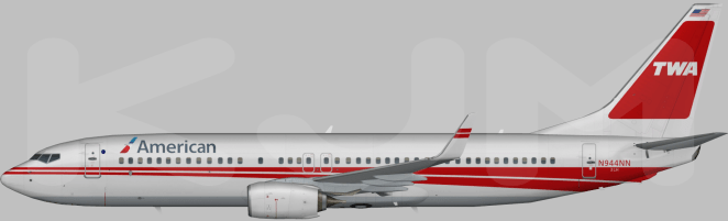 Rendering of a possible TWA heritage scheme in American Colors (Thanks to Kyle Meeks).