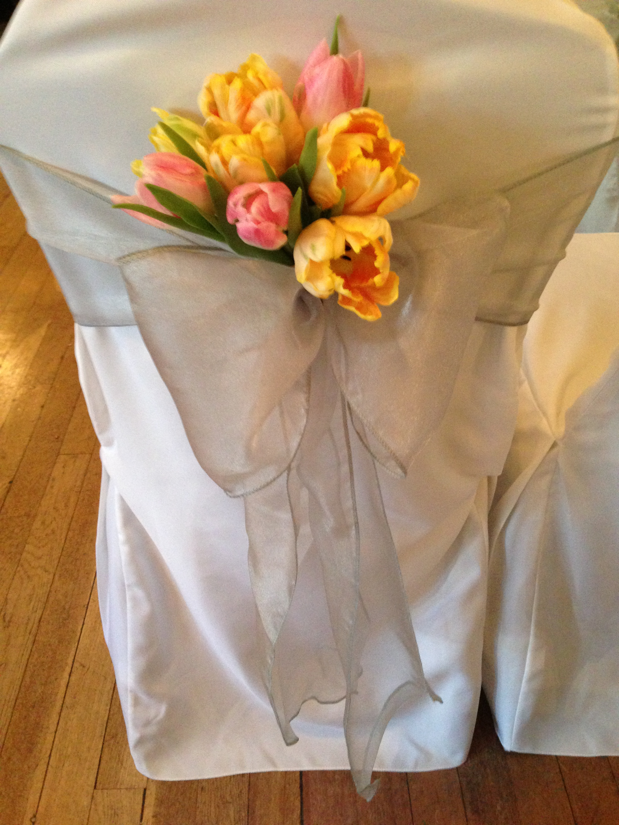 chair covers and sashes hire steel white sash ribbon rose