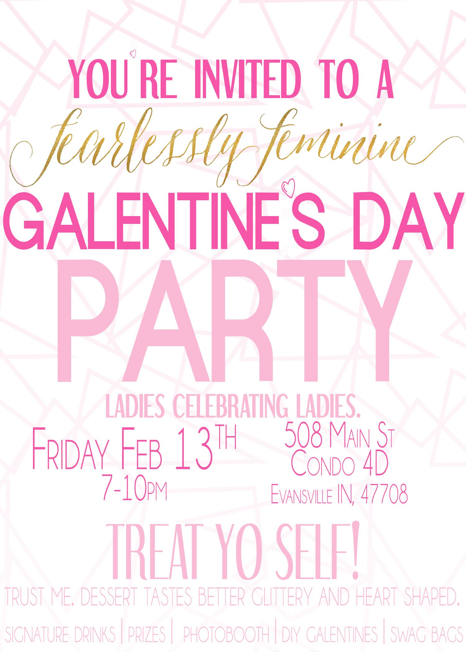 Ladies Celebrating Ladies Galentines Day Evansville IN
