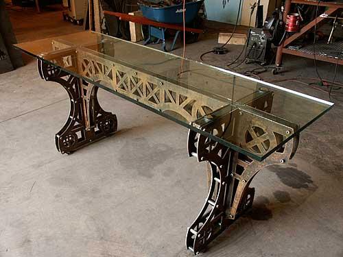 STEEL TRUSS AND BEAM TABLES  KIBWE DAISY DESIGN