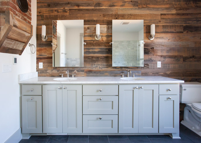 Reclaimed Wood Shower Walls
