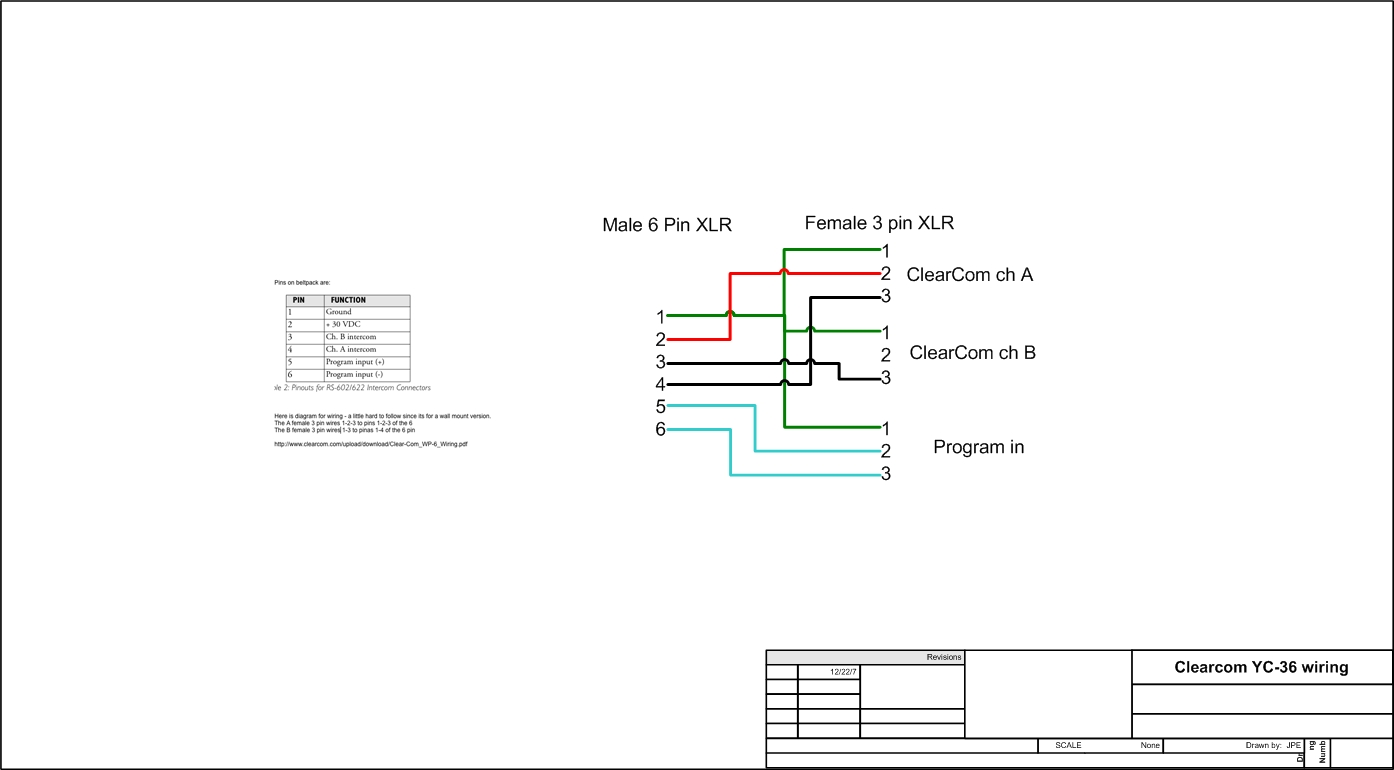 hight resolution of 6 pin xlr wiring diagram wiring diagram new3pin to 6pin comms blue room technical forum 6