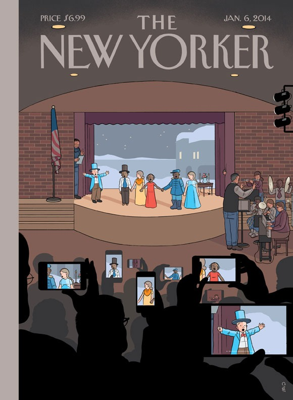 """newyorker: A look at this week's cover, """"All Together Now,"""" by Chris Ware: http://nyr.kr/1gf3JkD But will they actually remember?"""