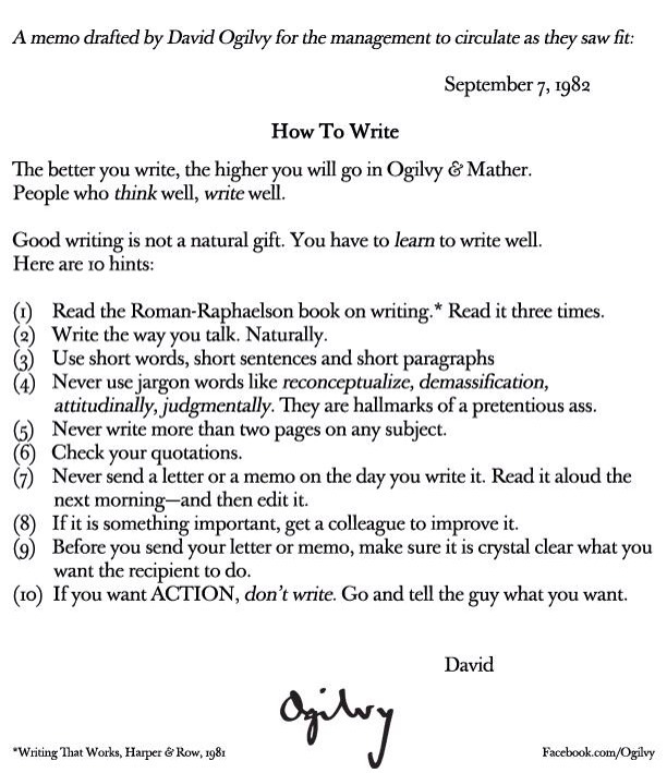 People who think well, write well. - David Ogilvy