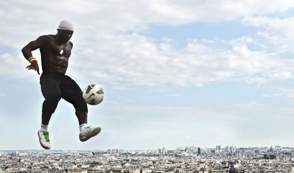Football over Paris