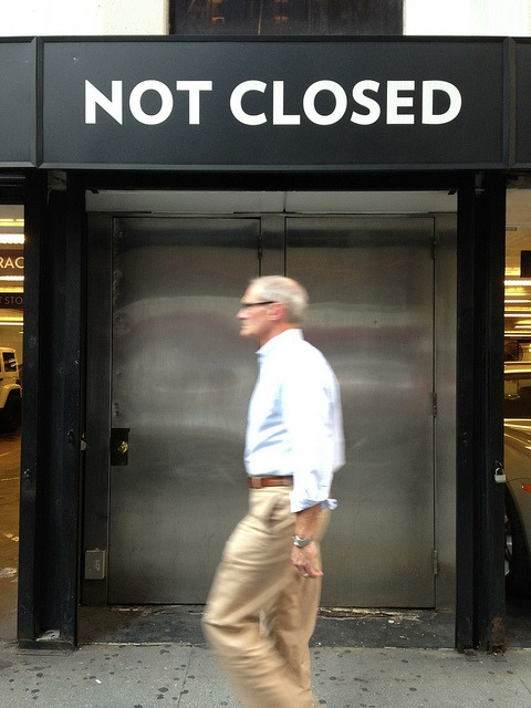 Tim Cook | NOT CLOSED on Flickr. It's not everyday you see the CEO of Apple out and about in New York City. Only if it was the real him.