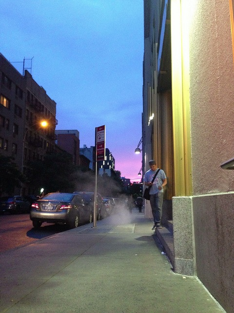 Raydon on Flickr. Via Flickr: Walked out of the subway and everything was purple.