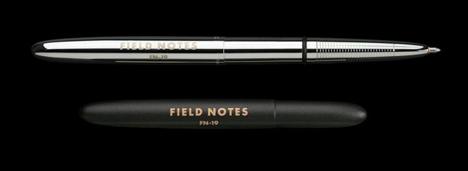 """New """"Space"""" pens from Field Notes: These pens are the real deal, precision-made, durable, and capable of writing in zero gravity, upside down, underwater, and at temperatures from −30 to 250°F (−35 to 120°C)."""