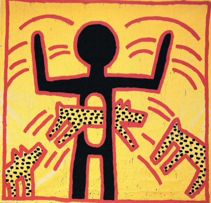 Untitled, (1982) Just discovering Pop artist Keith Haring, now on display at the Paris Museum of Modern Art.