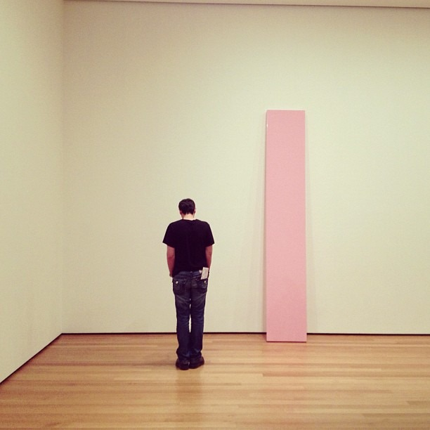 Lone, with a Pink plank. (at Museum of Modern Art (MoMA))