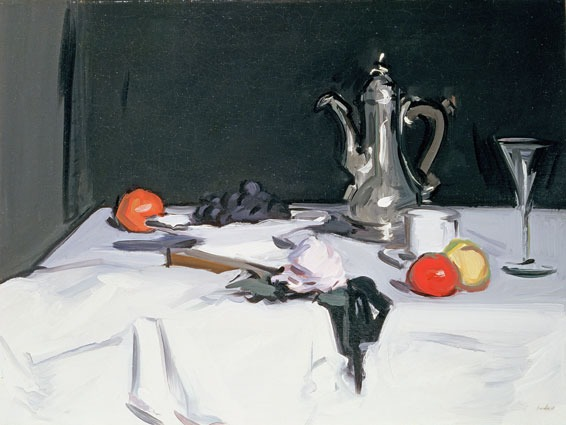 The Coffee Pot (1909) There is so much in mere objects, flowers, leaves, jugs, what not – colours, forms, relation – I can never see mystery coming to an end. -Samuel Peploe