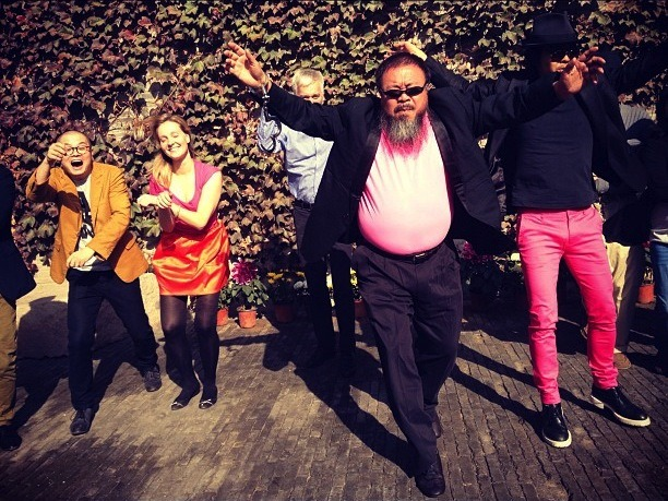 Chinese dissident Ai WeiWei adds even more irony to Psy's Gangnam video. Creating revolution through comedic irony.