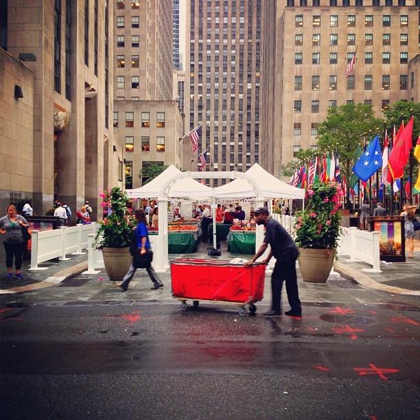 Red Cart (Taken with Instagram at Rockefeller Center)