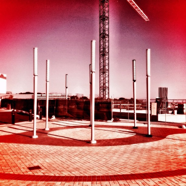 Poles pointing to outer space (Taken with Instagram)