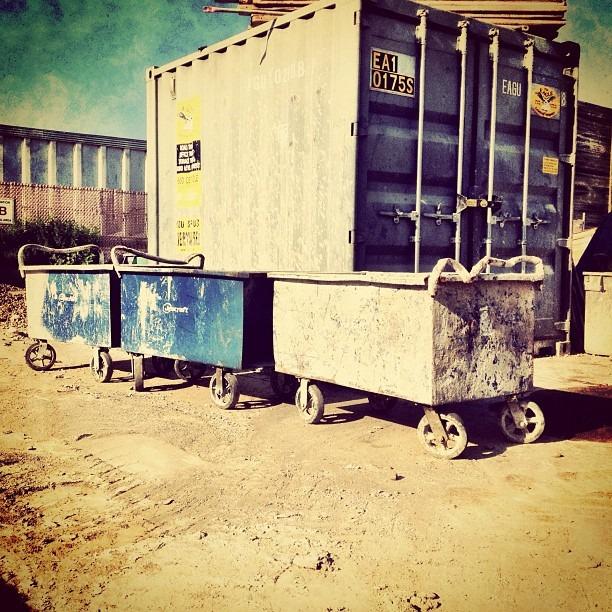 Dust bins (Taken with Instagram)