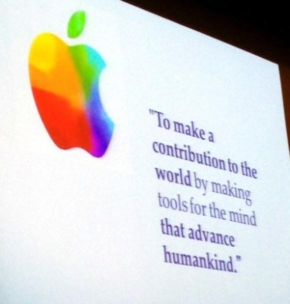 Apple's mission statement.