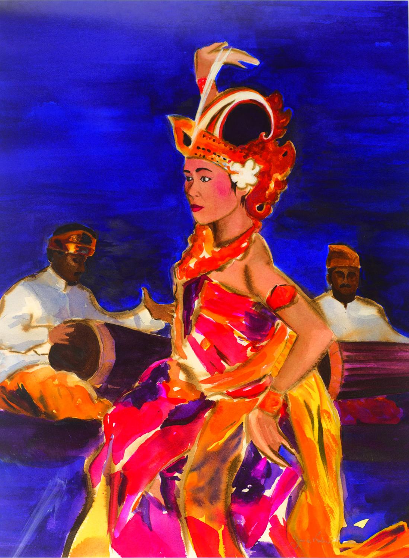 bali dancer giclée print