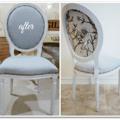 French Louis Chair Target Chairs Dining Reupholstering Classy Glam Living Diy Tutorial