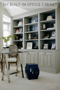 DIY Built-in Office Cabinet  Classy Glam Living