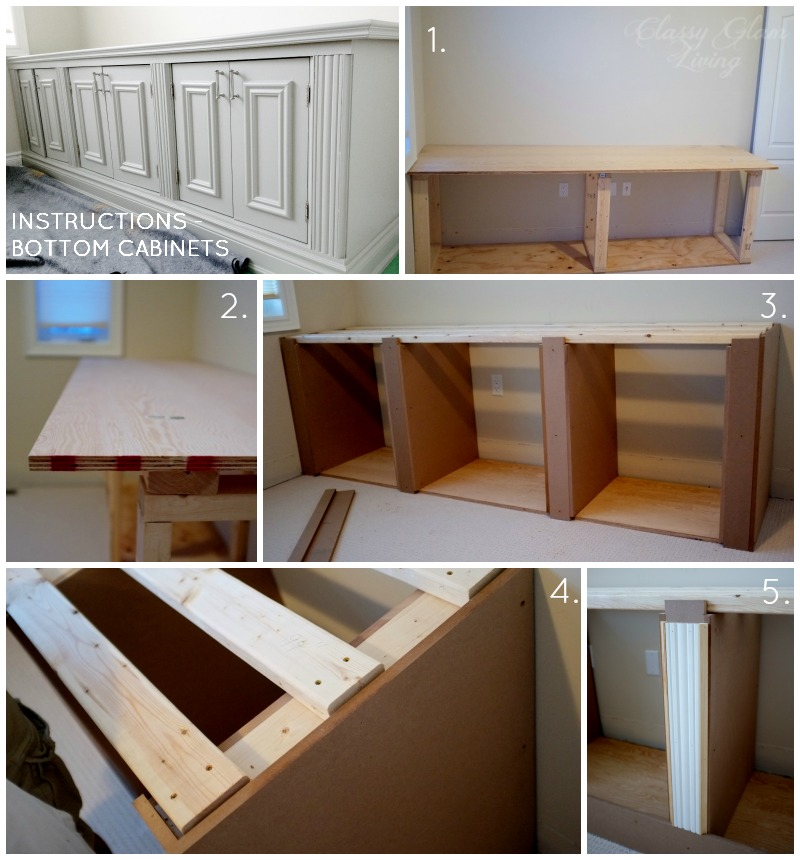 living room cabinets built in floor rug diy office cabinet classy glam bottom instructions