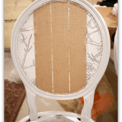 Reupholstering A Chair Ultralight Backpacking French Louis Chairs Classy Glam Living Webbing On Back Of Diy