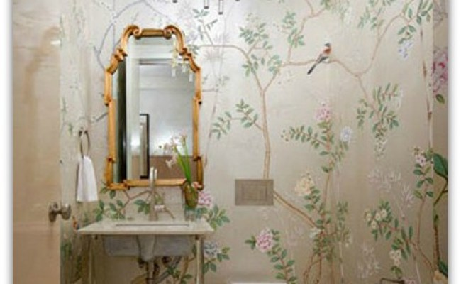 The Many Wall Treatment Options For The Powder Room