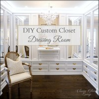 DIY Custom Closet Dressing Room + Video  Classy Glam Living