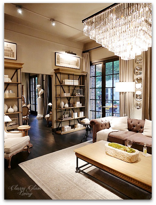 restoration hardware living room carpets ideas chicago the gallery at three arts club 3 cafe classy glam