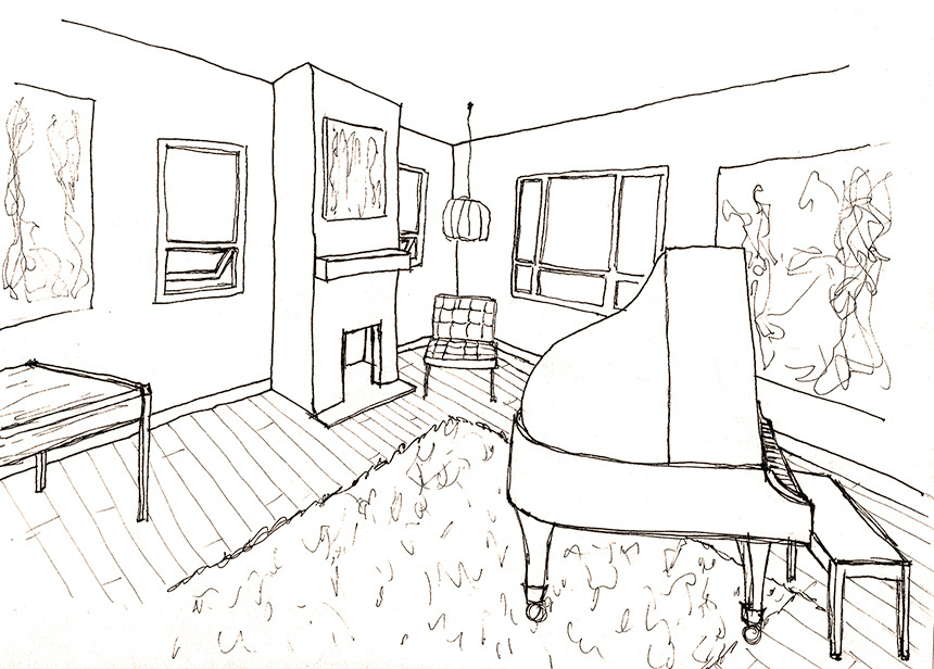Perspective drawings of a modern house — Sophiequi