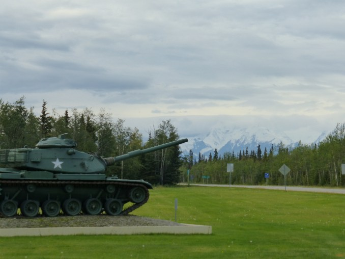 Fort Greely and the mountains