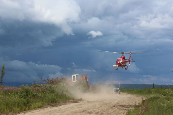 Our pilot, Adam making another landing. By far working for a planting company is one of the most intensive pilot assignments. 1400$ an hour is no joke! helicopter bill covered by CANFOR