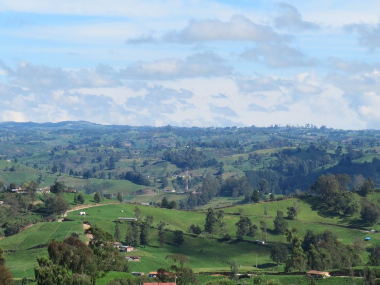 the endless hills and pastures of colombia