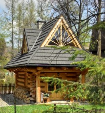 Tiny Log Cabin Home House Plans