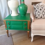 Emerald Green End Table Flock Interiors Furniture Reselling Redesign Vancouver