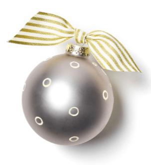 happy anniversary christmas ornament