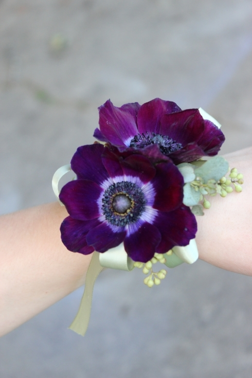 Modern wrist corsages for weddings and special occasions  Sophisticated Floral DesignsPortland