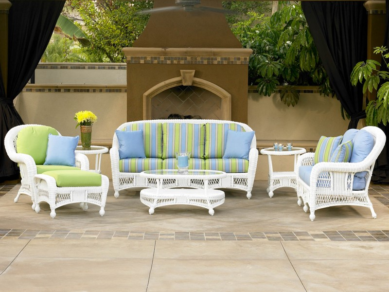 st lucia outdoor white wicker furniture collection by north cape nci wicker