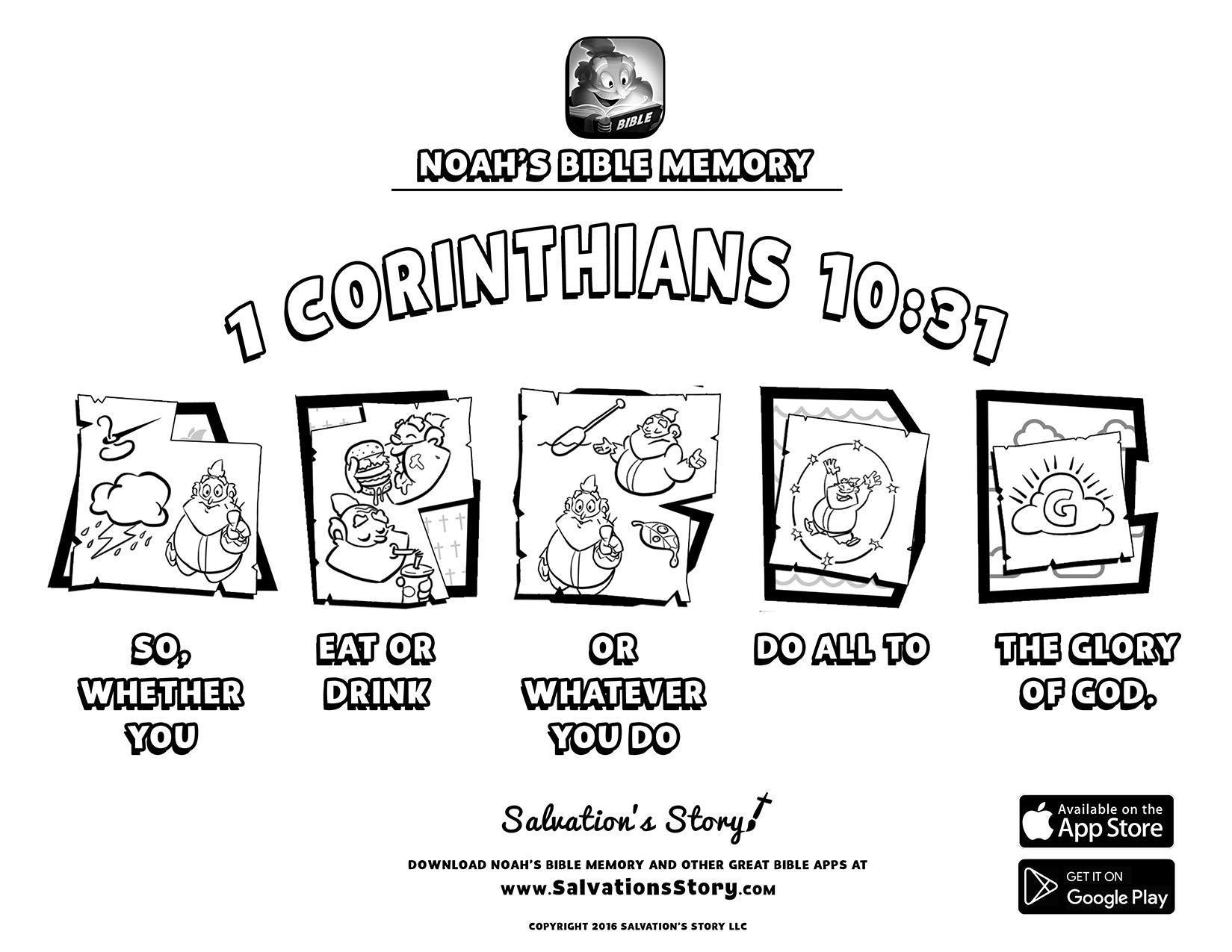 I Corinthians 13 Pages Coloring Pages