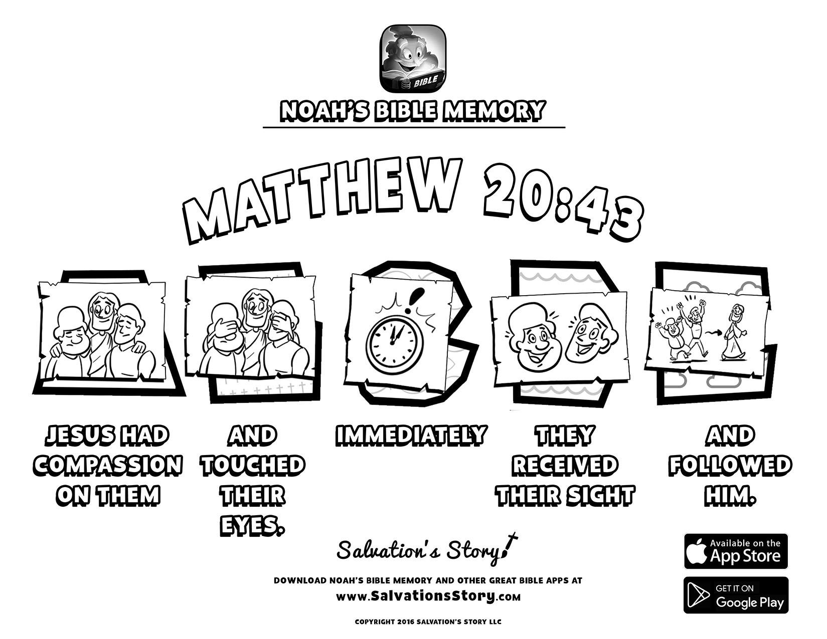 Bible Memory Printable Gallery — Sunday School Games