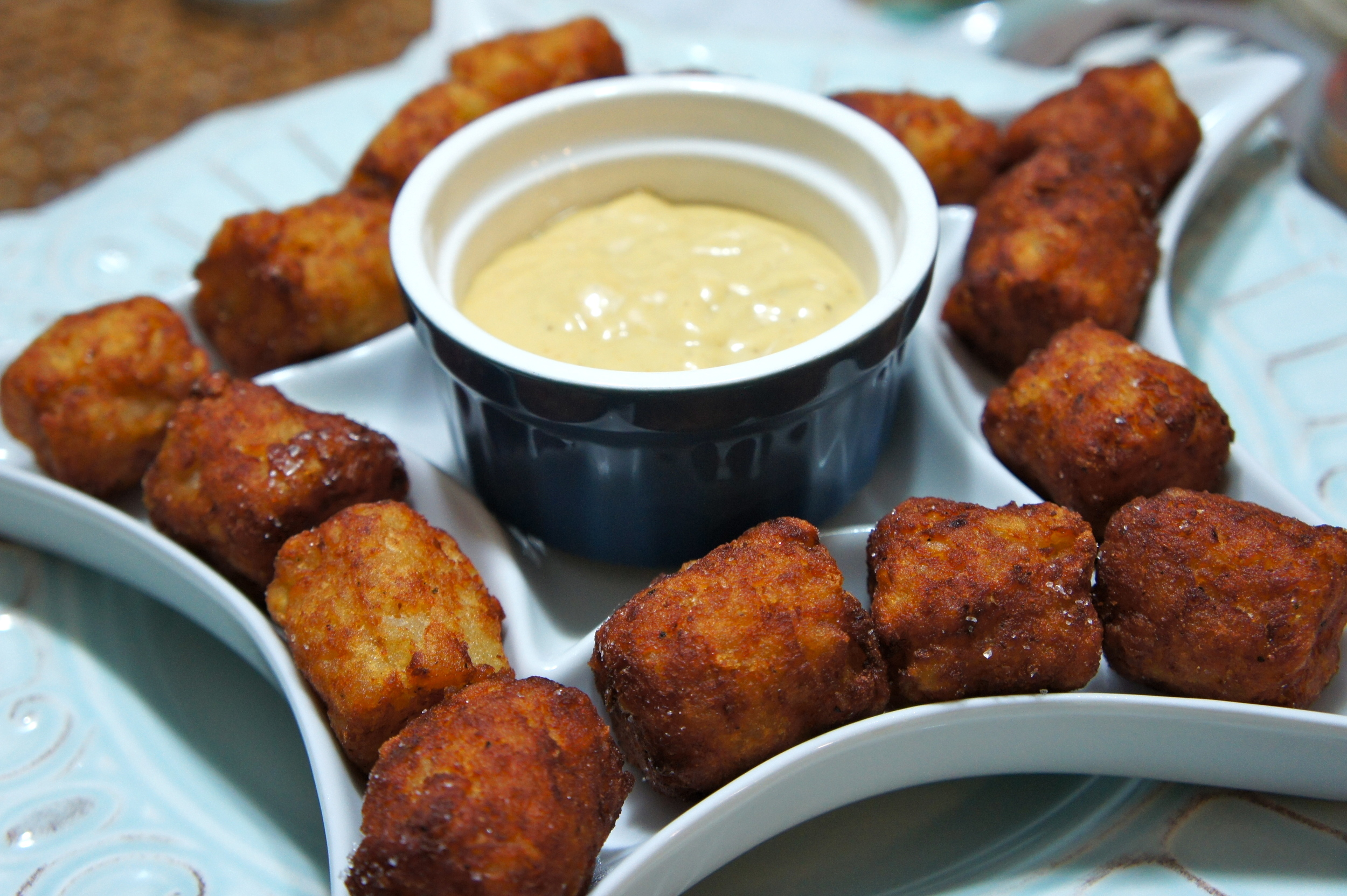 tater tots with chick