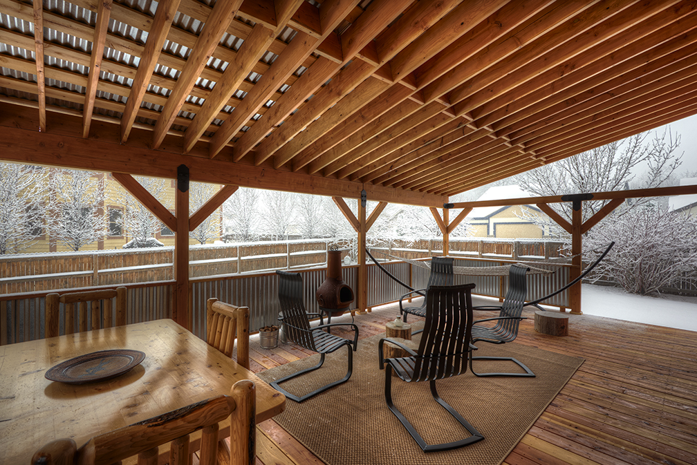 corrugated steel chair rail do it yourself patio cushions blog about the best photographer and what is to live in denver large covered wood deck with roof side rails custom built