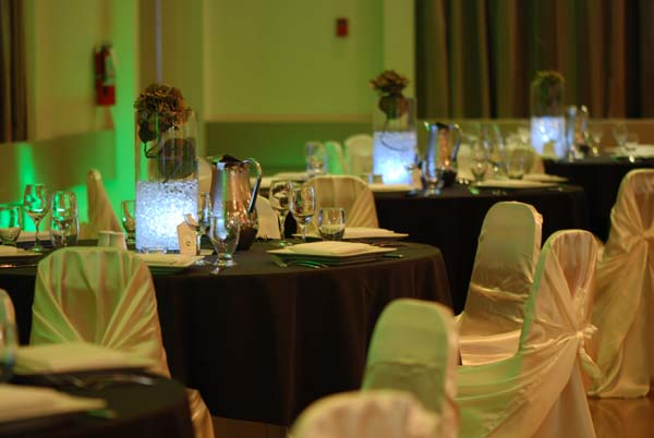 chair cover rentals victoria bc lounge beach chairs dance and event hall for rent in leonardo da vinci centre wedding receptions to remember