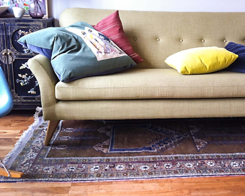 regency sofa john lewis global furniture bonded leather about miller upholstering collected new and vintage textiles enhance antique furnishings in this living room london