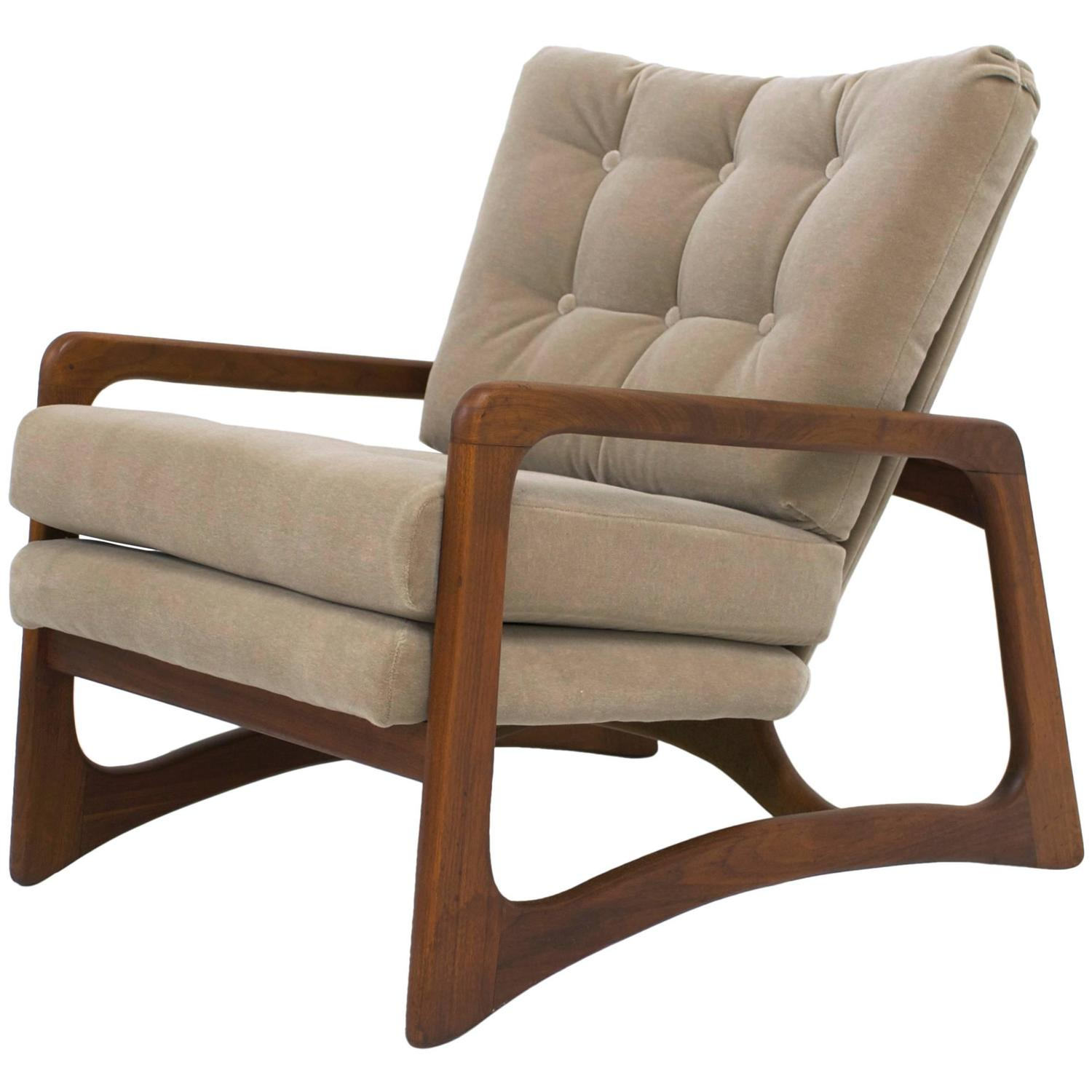 adrian pearsall chair motel chairs for sale sold walnut lounge in taupe mohair flow modern 4767353 z jpg