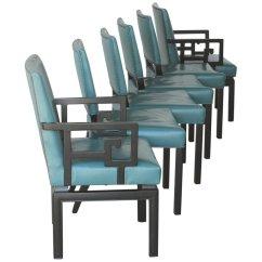Turquoise Chairs Leather Swing Chair Ikea Malaysia Set Of Six Greek Key Ebonized Far East Baker Dining 12469252 Master Jpg