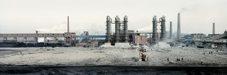 Steel Plant. Hancheng, Shanxi, China.