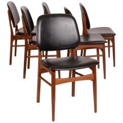 Danish Modern Dining Chairs Aluminum Folding With Webbing Set Of Six Arne Vodder Style In Teak 3459342 L Jpg